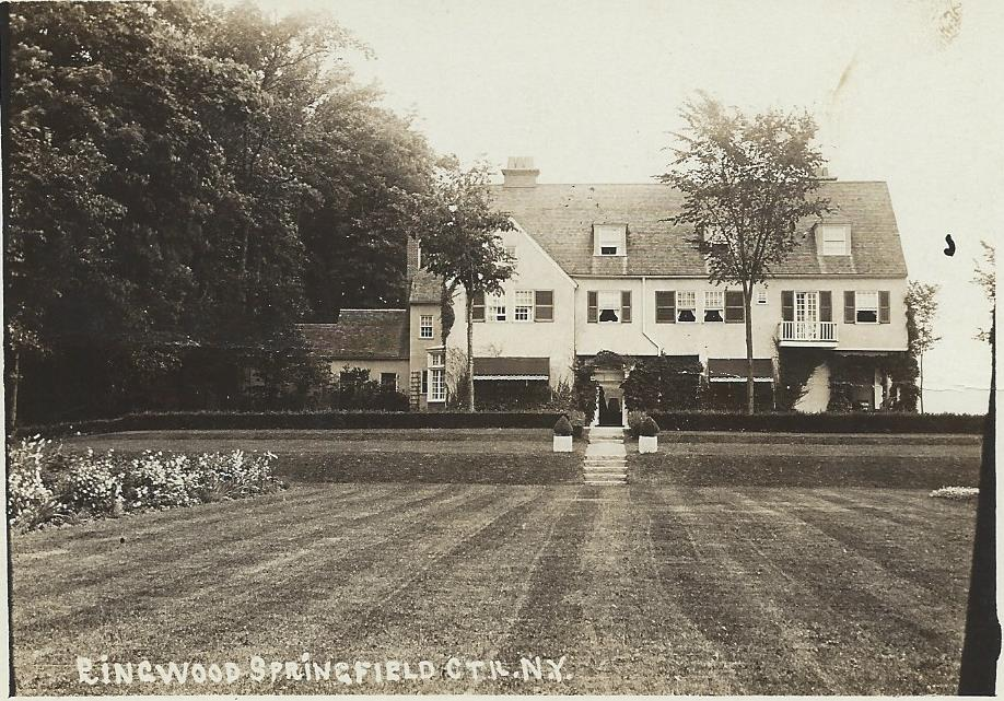 Ringwood Manor, 1903. Summer home of Arthur L Ryerson, a Chicago industrialist who died on the Titanic.